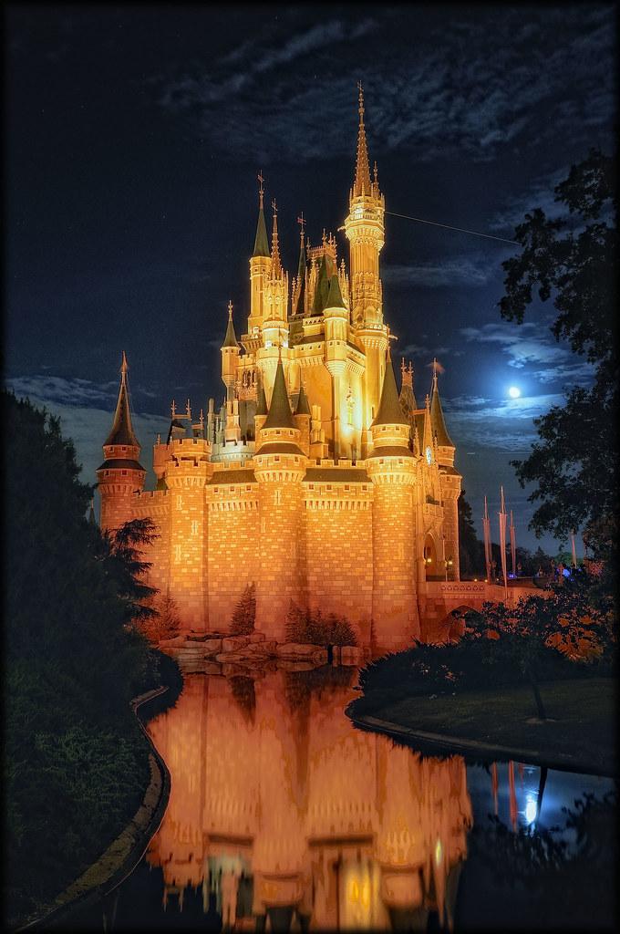 orange castle   Cinderella's Castle Magic Kingdom Walt ...