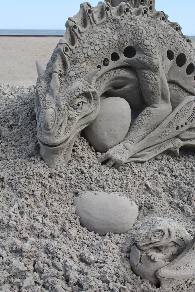 Neptune festival, Virginia Beach, sand sculpture, sand, be ...