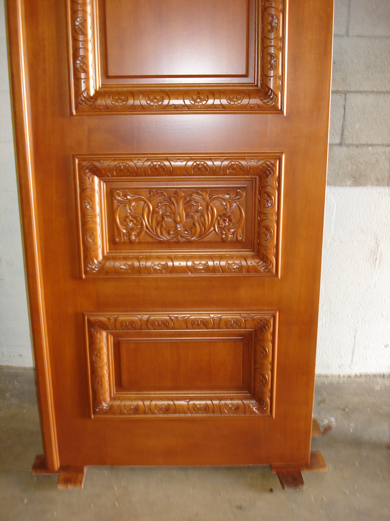 custom hand carved wood double door custom solid