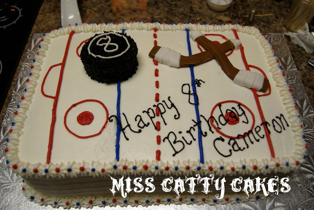 Cake Design Pro : Hockey Rink Cake Miss Catty Cakes Cake Design Flickr