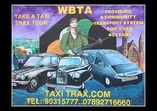 Taxi Mural. Falls Road, a Catholic neighborhood of Belfast. Ulster. Northern Ireland | by Lifel-Mod