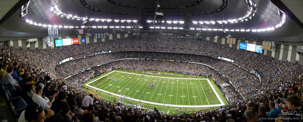 Who dat nation superdome interior panorama the view for Mercedes benz superdome 3d seating chart
