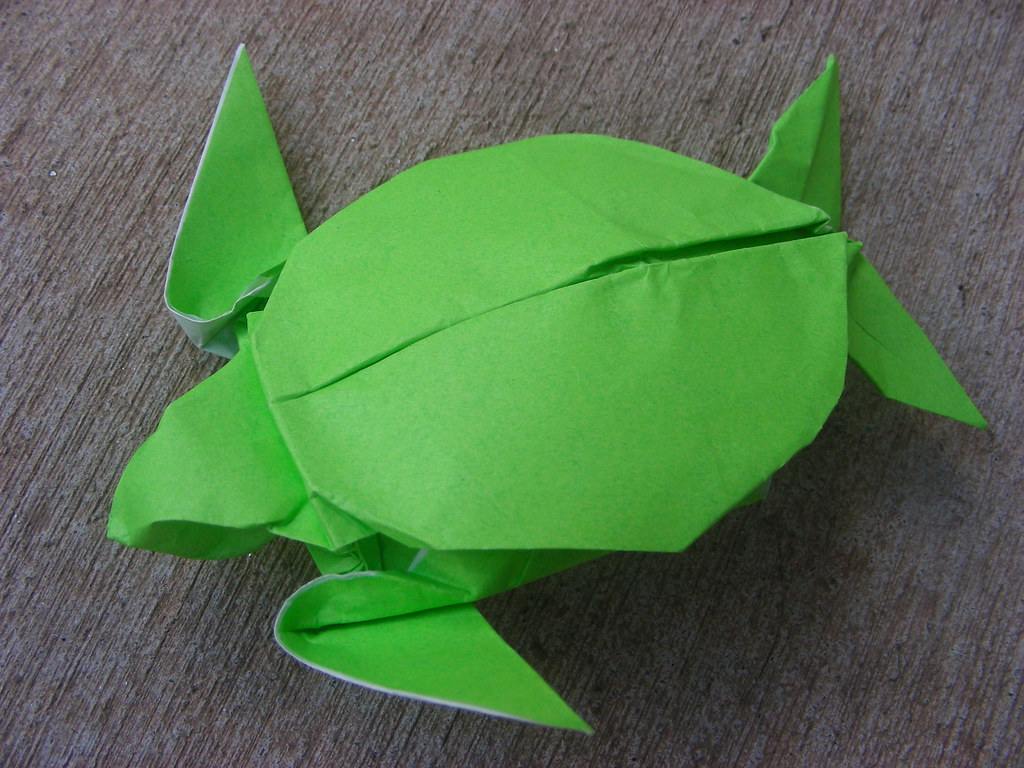 Sea turtle design by michael g lafosse folded from a 9 flickr sea turtle design by michael g lafosse by origamiancy jeuxipadfo Image collections