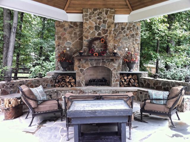 Backyard gazebo flickr photo sharing - Outdoor gazebo plans with fireplace ...