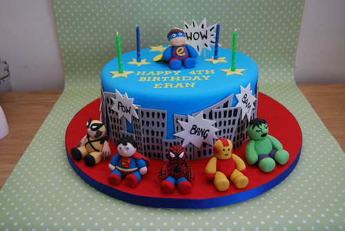 Superhero Cake With A Lot Of Help From Other Flickr