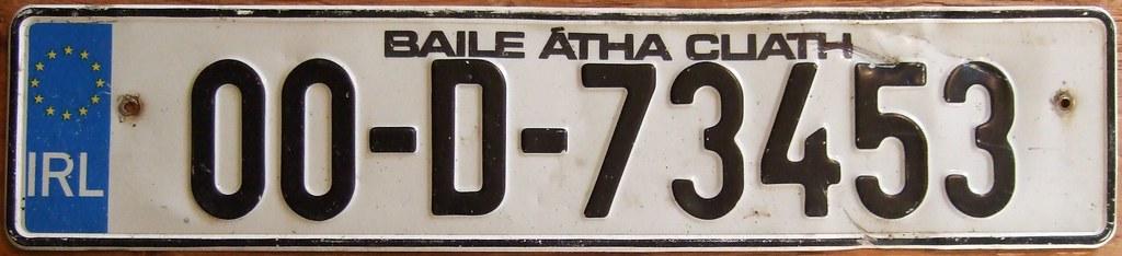 ireland dublin 2000 license plate license plate. Black Bedroom Furniture Sets. Home Design Ideas