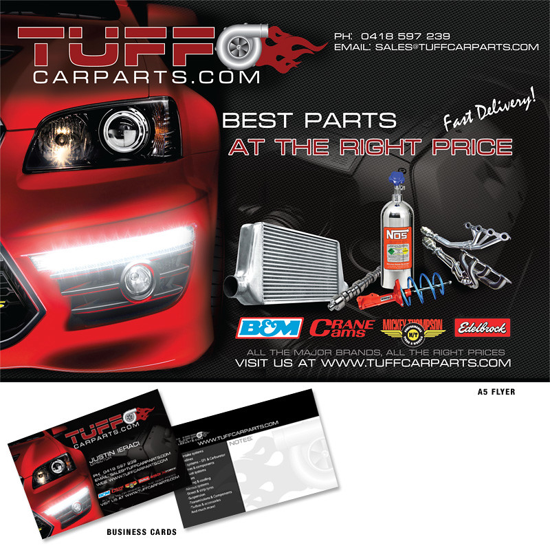 Tuff car parts business card and a5 flyer design and print flickr tuff car parts business card and a5 flyer design and printing by hotmetaldesign reheart Choice Image