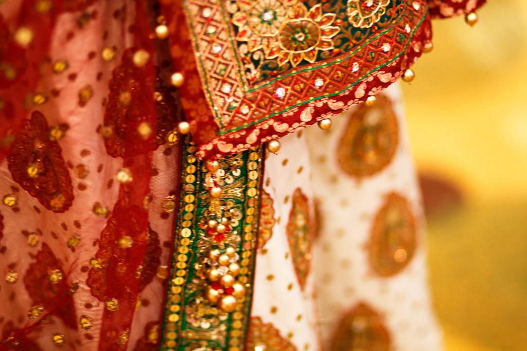 the bridal sari