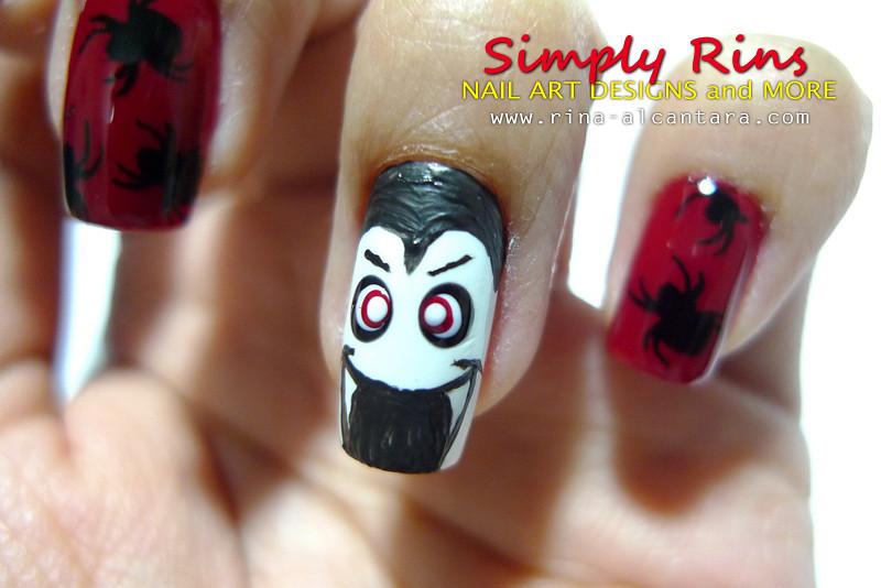Dracula Art Nail Art Halloween Dracula