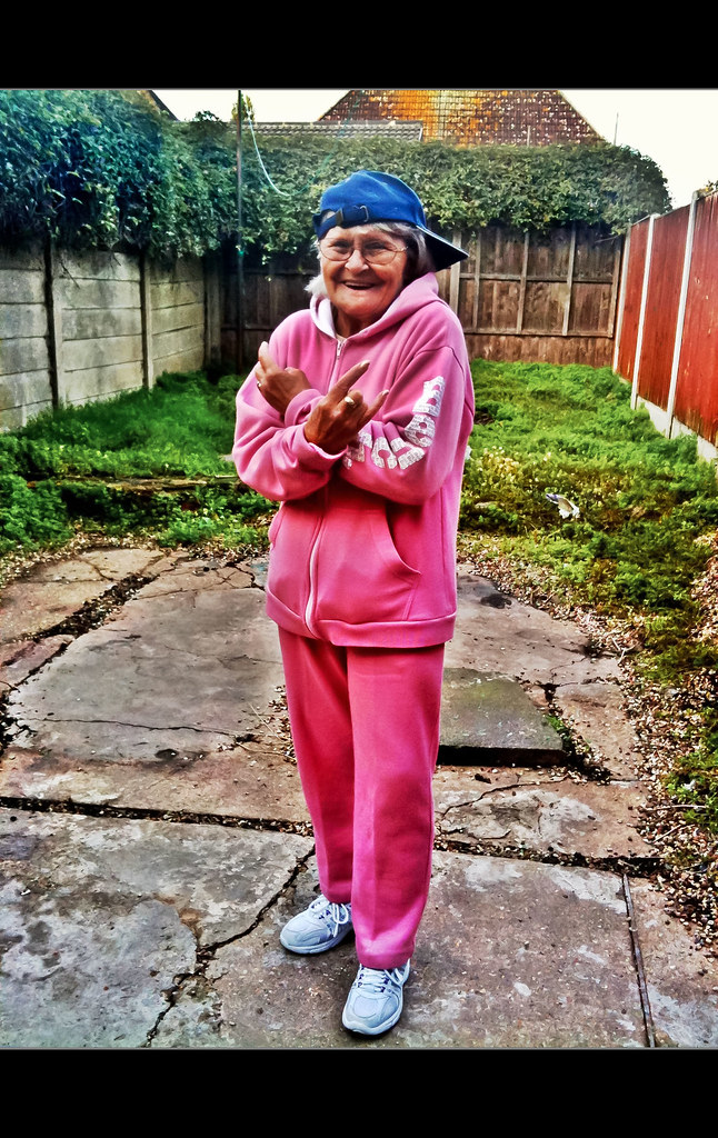 Granny Hip Hop My Mum 73 Yrs Old In Her Pink