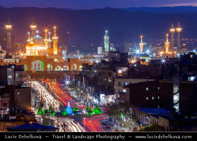 Twilight Blue >> Iran - Mashhad- Imam Reza Holy Shrine at Dusk - Blue hour … | Flickr