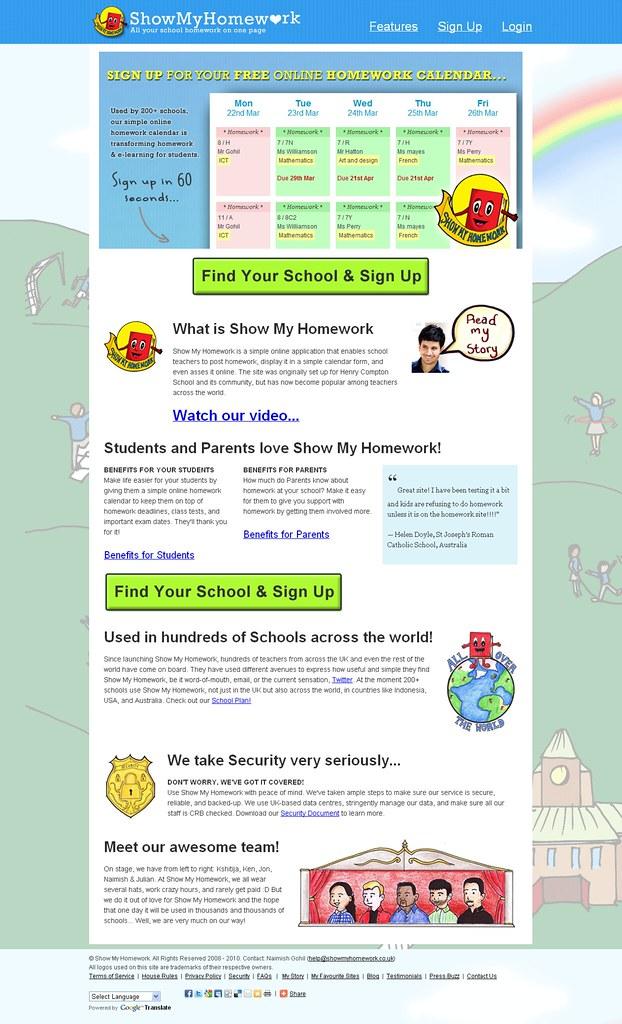 My homework website