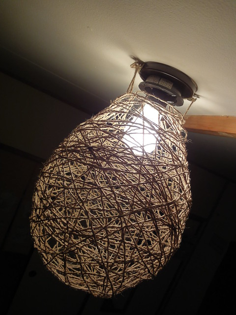 homemade string light shade Flickr - Photo Sharing!