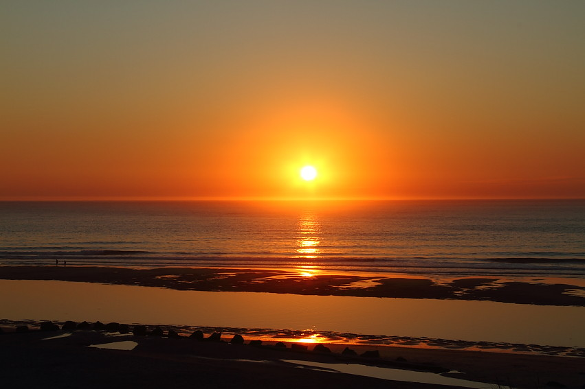 Coucher soleil soulac sur mer ba nes de l 39 atlantique flickr - Coucher de soleil en mer ...