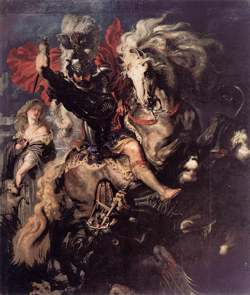Rubens, Pedro Pablo, Lucha de San Jorge y el dragón, 1607