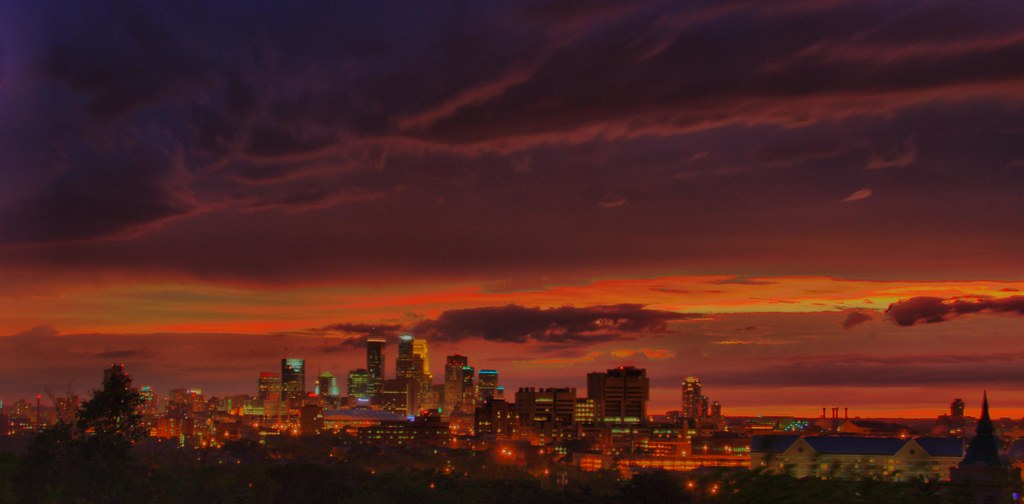 minneapolis skyline taken from the base of the witch hat w flickr. Black Bedroom Furniture Sets. Home Design Ideas