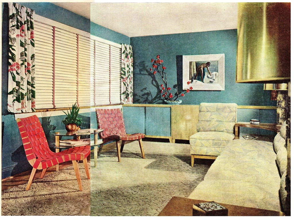 Late 1940 39 s living room meh this was spread out between for Bedroom decor styles