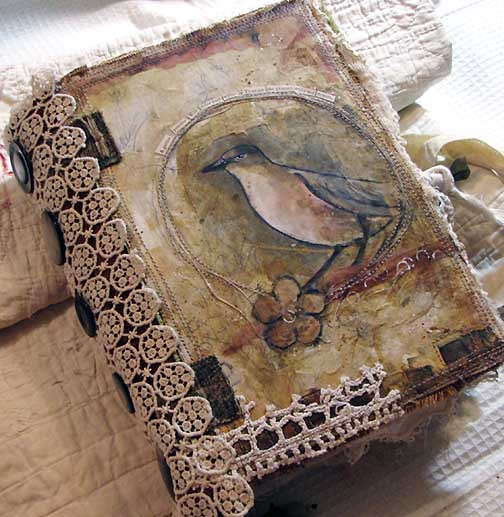 Book Cover Handmade Quotes ~ Handmade journal mixed media front cover includes