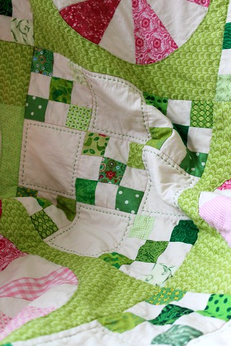 Pink Border Peppermints and Ninepatches Quilt | by Peppermint Pinwheels