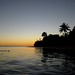 Rosi snorkelling at dusk