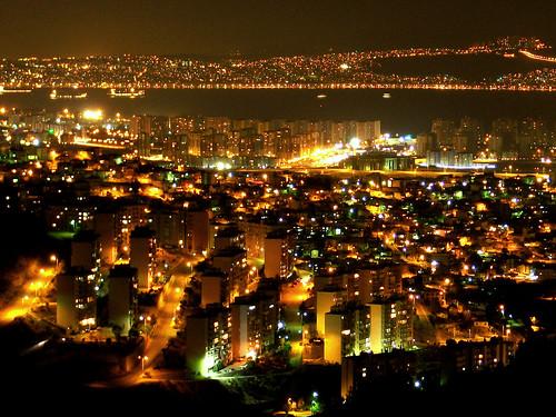 night cigli izmir turkey taken from egekent hill i