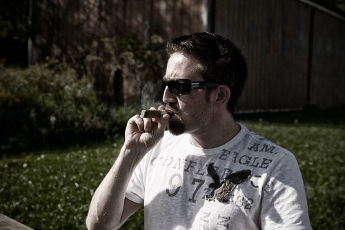 Me enjoying a cigar | by rob smith photography