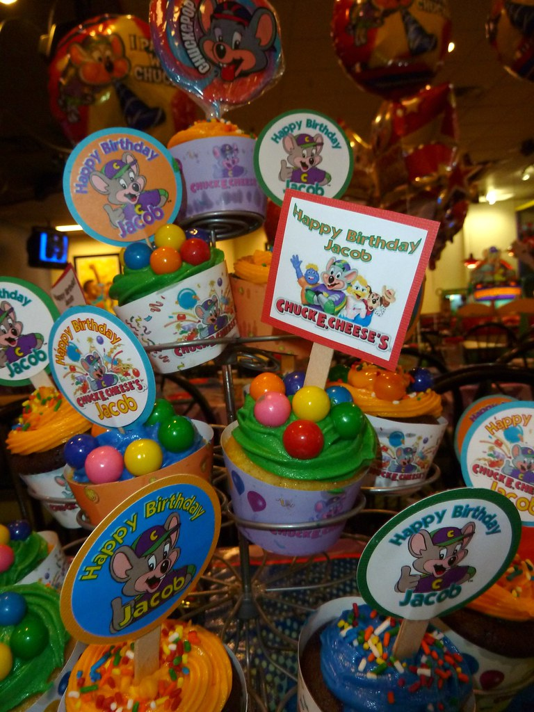 Chuck E Cheese cupcake tower justdenise Flickr
