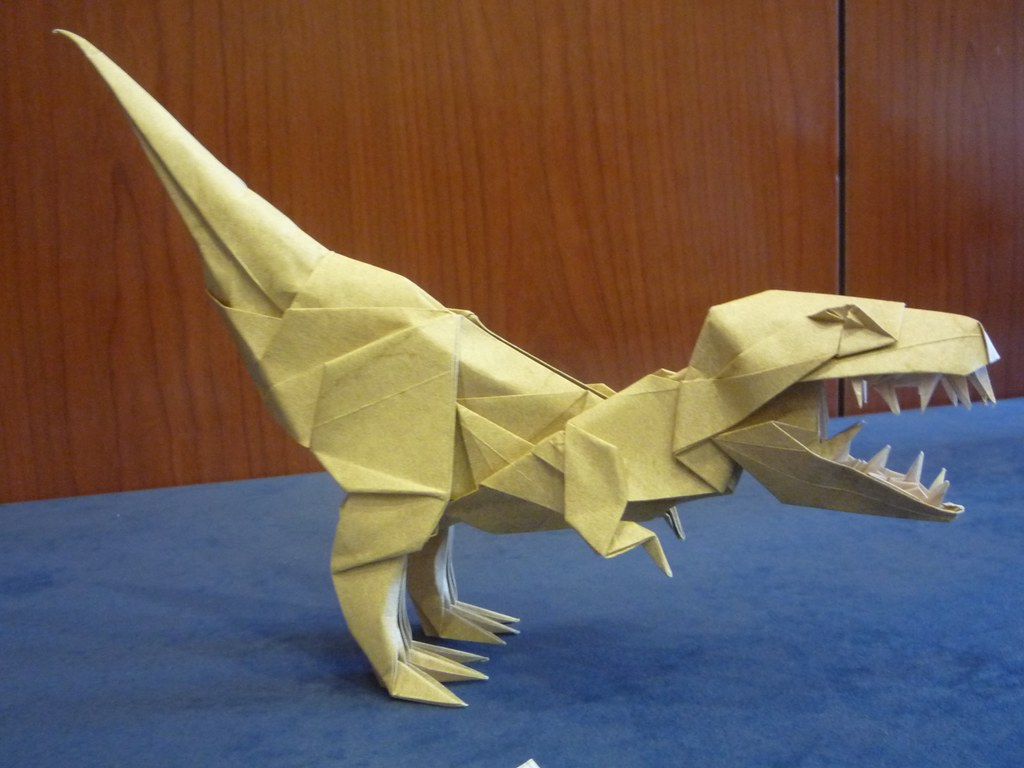 Dinosaurio de Joseph Wu Origami Pablo Flickr