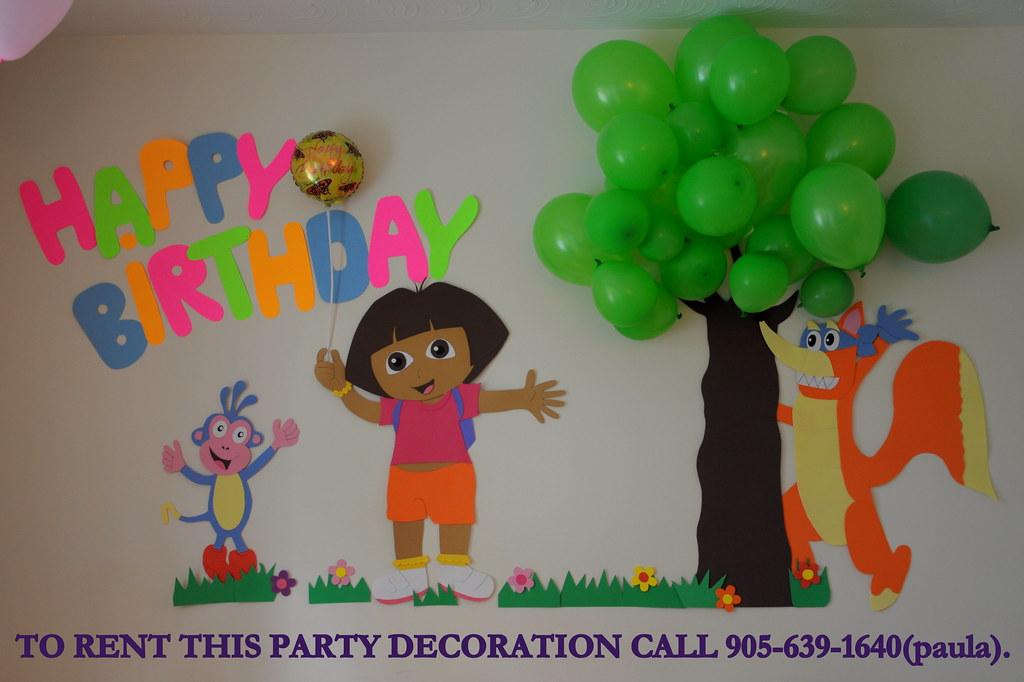 Dora Birthday Wall Decoration : Dora s party decoration to