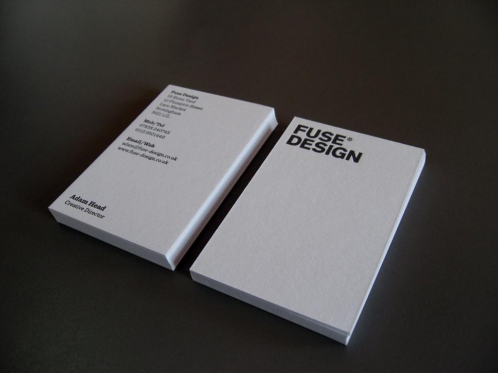 New Fuse Design Business Card Black Foil Black Foil To B Flickr