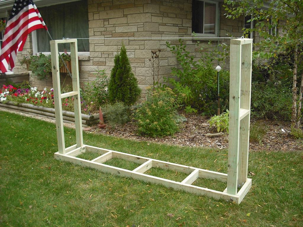 Firewood Storage Rack 01 | Firewood rack / holder built of ...