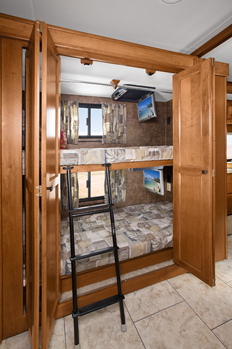 Creative Motorhomes With Bunk Beds Silverado  Three Bunk Beds  King Bed