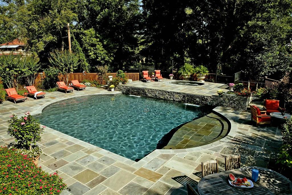 Bluestone Swimming Pool Patio Frank Bowman Designs Flickr