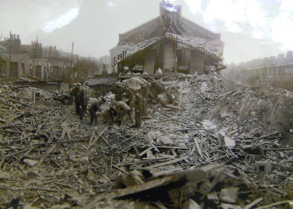 Prince Edward Road Hackney Wick Showing Destruction Of