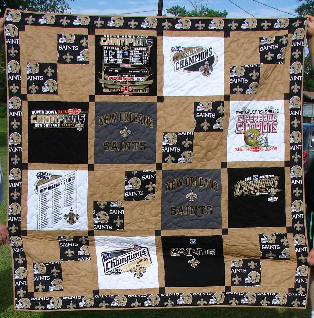 New Orleans Saints T-shirt Quilt | Commisioned t-shirt quilt… | Flickr : quilt shops in new orleans - Adamdwight.com