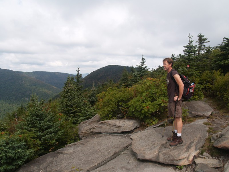 Looking west with Sugarloaf Mountain (3800 feet), the next peak on the Devil's Path, center, from Twin's summit