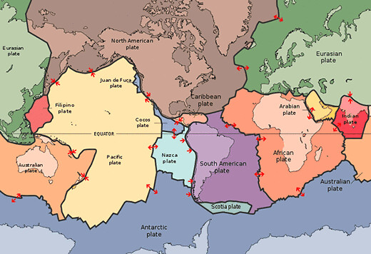 Map of major tectonic plates in the world this image has b flickr map of major tectonic plates in the world by blatantworld gumiabroncs Image collections