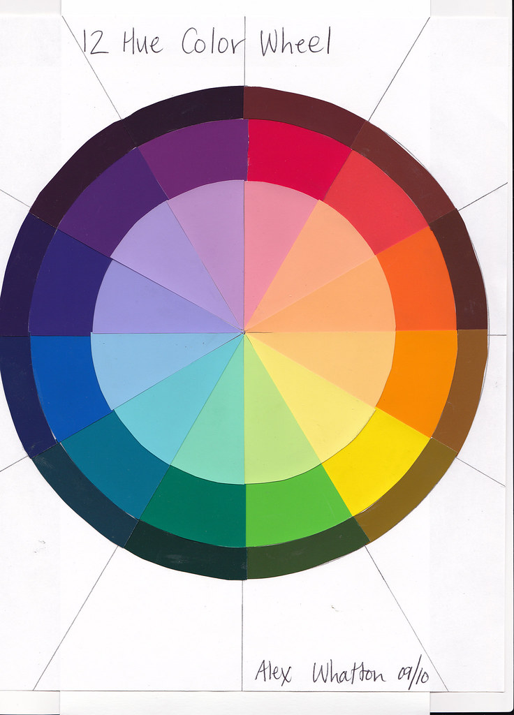 12 hue color wheel color theory homework parsons fall 201 alexandra whatton flickr. Black Bedroom Furniture Sets. Home Design Ideas
