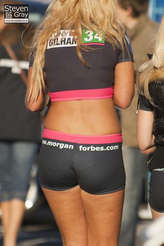 Brands Hatch Morgan >> BTCC 2010 - Blonde Grid Girl in Black Hot Pants & Crop Top… | Flickr