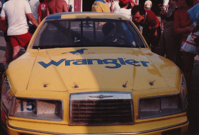 Dale Earnhardt's #15 Wrangler Jean's Ford T-Bird. | 1983 ...