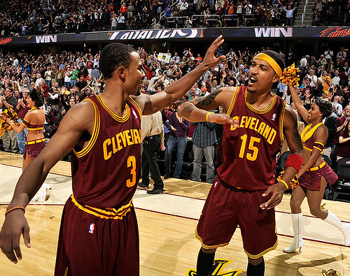 Ramon and Jamario Celebrate the Win | by Cavs History