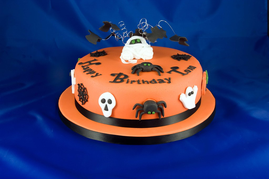Halloween Birthday Cake This was a fun cake to make My cl Flickr