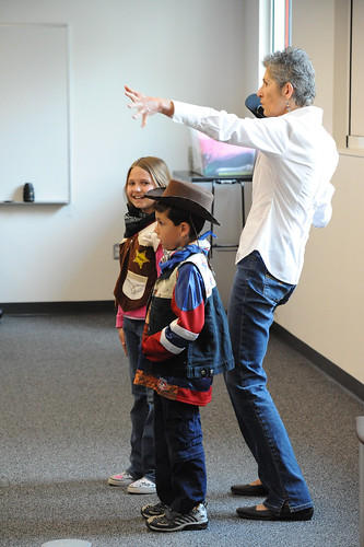 Having fun acting out a scene with author, Ellen Kelley, at the 2008 reading celebration. | by California State University Channel Islands
