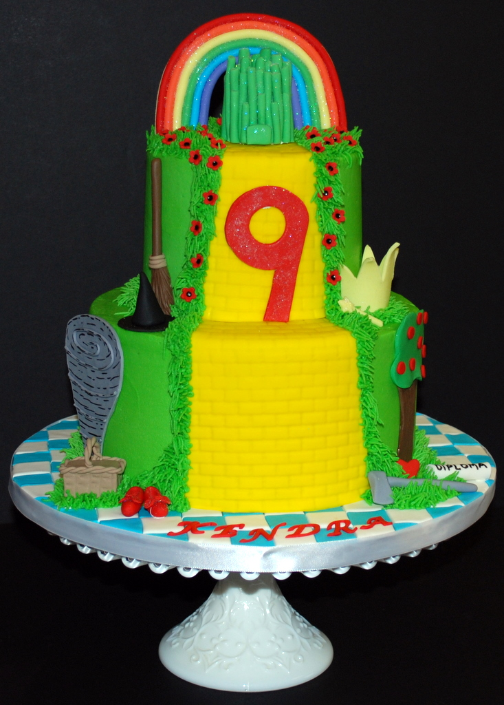 Wizard Of Oz Birthday Cake Just Finished Up This Wizard Of Flickr