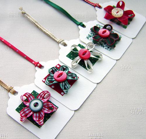 Unique handmade christmas gift tags