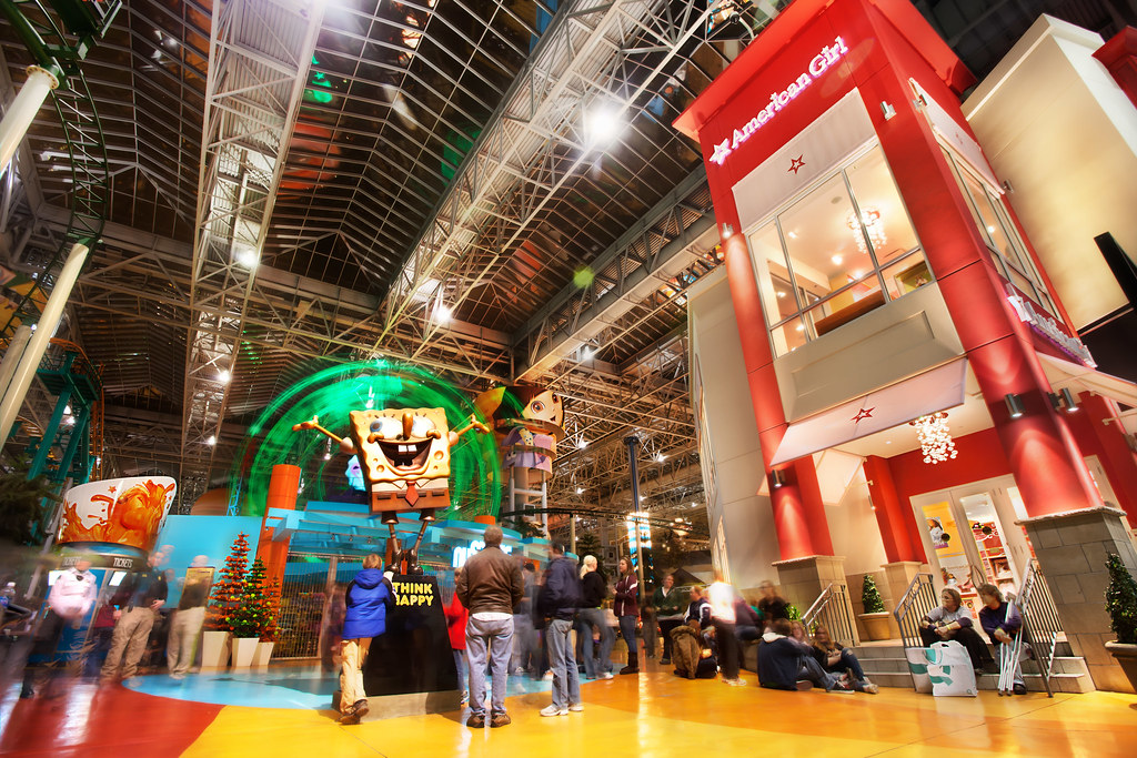 The most visited shopping mall in the world and largest mall in the United States is the Mall of America, located near the Twin Cities in Bloomington, Minnesota.