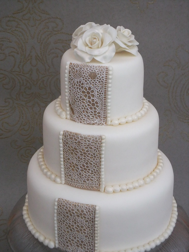 wedding cakes lace and pearl roses pearls and lace wedding cake dummy it s an idea i 24864