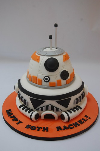 Groovy Bb8 And Stormtrooper Cake Beautiful Birthday Cakes Personalised Birthday Cards Paralily Jamesorg