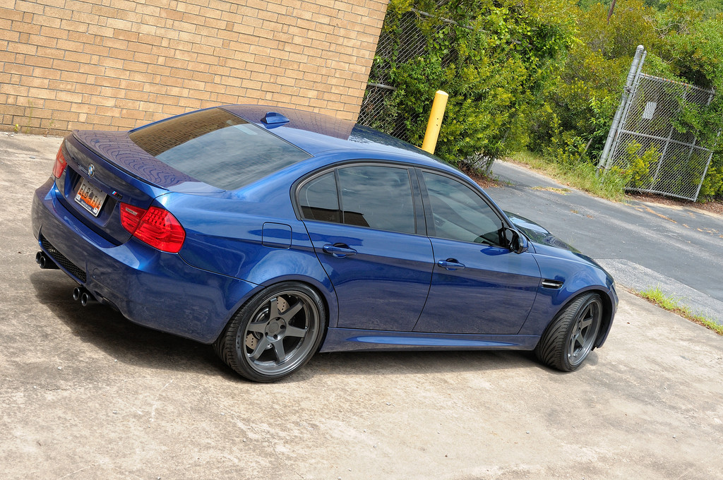 Te37 Gunmetal Bmw M3 E90 19x9 5 20 With 255 35s 19x10 5
