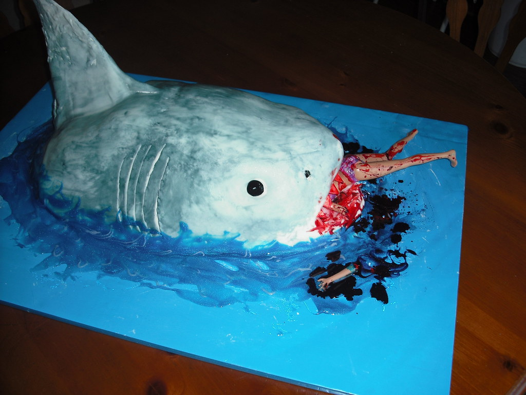Jaws Shark Cake Jaws Birthday Cake Everything Was Edible Flickr